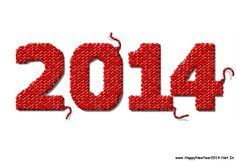 Happy New Year 2014 Wallpaper of Knitted Fabric