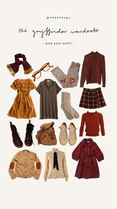 , closet ideas Informations About Gryffindor Kleiders Mode Harry Potter, Estilo Harry Potter, Harry Potter Style, Harry Potter Outfits, Harry Potter Fashion, Hermione Granger Outfits, Harry Potter Clothing, Harry Potter Aesthetic, Fall Outfits