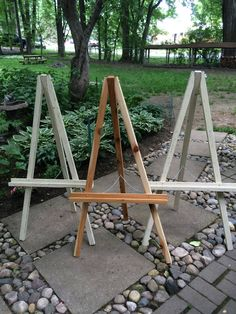 Your place to buy and sell all things handmade White Distressed Cedar Wood Easel Medium Diy Easel, Wooden Easel, Handmade Wedding Decorations, Wedding Crafts, Diy Wedding Backdrop, Wedding Entrance, Wedding Welcome Signs, Wedding Signs, Decoration Table