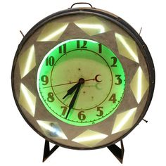 1930's Neon Clock | From a unique collection of antique and modern clocks at http://www.1stdibs.com/furniture/more-furniture-collectibles/clocks/
