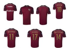 a9b58b5ed new top!2014 World Cup Russia home Thailand top Quality ARSHAVIN 10th Russia  Soccer Jerseys Shirt