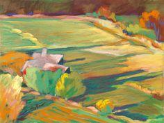 ☼ Painterly Landscape Escape ☼ landscape painting by Helga Haller