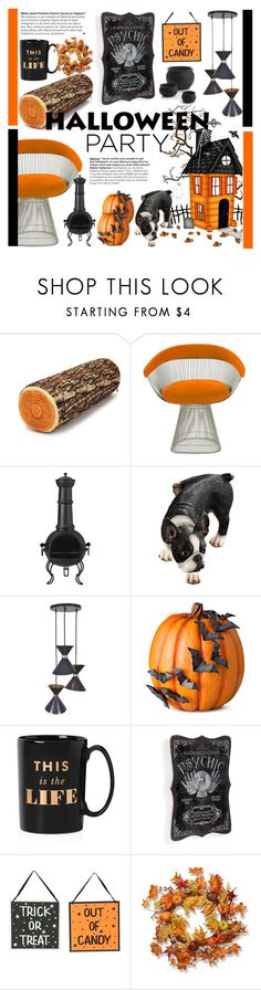 """Decorating Inspiration: Halloween Party"" by cstarzforhome ❤ liked on Polyvore featuring interior, interiors, interior design, home, home decor, interior decorating, Knoll, La Hacienda, Improvements and Kate Spade"
