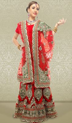 Traditional Embroidered Net Choli Skirt Price: Usa Dollar $935, British UK Pound £551, Euro695, Canada CA$ 1006, Indian Rs50490.