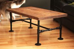 DIY Iron pipe Table by Nothing-Z3N.deviantart.com on @DeviantArt