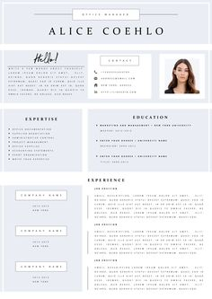 Resume Template/CV Template + Cover Letter for Word | Simple Clean Resume | Resume with Photo | Instant Download Creative resume templates - CVdesign.co. We aim to provide simple, professional, and high-quality products. #resumetemplate #resume #resumedesign #designer #job #career #jobfairs