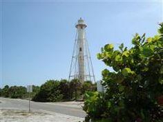 Range light on Gasparilla Island, Boca Grande, Florida