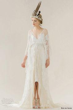 Rue de Seine #Wedding Dresses — Young Love #Bridal Collection | Wedding Inspirasi #weddings #weddinggown #weddingdress