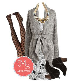 """Across the Boardroom Dress"" by modcloth ❤ liked on Polyvore featuring outfit, modcloth and modstylist"