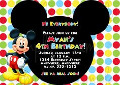 Download Free Printable Mickey Mouse Invitatons Birthday Invitations 2nd