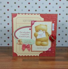 Sent With Love by Paula Whittaker - Forever Friends - Forever Love - Valentine Card  ((CRAFTY ART))
