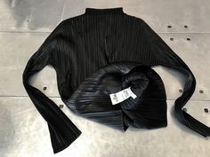 Issey Miyake pleats please top, vintage Issey Miyake black top ,shirt blouse ,pleated long sleeves top, Authentic Issey miyake geometric top by NUKOBRANDS on Etsy https://www.etsy.com/listing/531136261/issey-miyake-pleats-please-top-vintage
