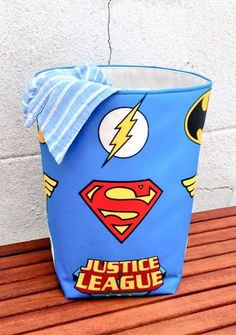 JUSTICE LEAGUE BASKET Kids Toys Nursery by VintageFromChris