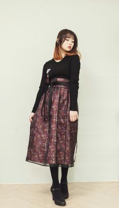 살구한복×하플리 미드나잇 허리치마 출시 #생활한복 #허리치마 #살구한복 #하플리 #hanbok #korea #한복 #모던한복