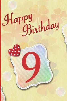 Happy Birthday 9 Blank Lined 6x9 Journal Notebook