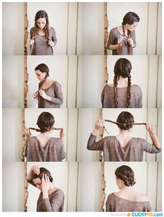 Twist Braid Updo Hairstyle Tutorial: Maiden Hairstyles/ Via This is a wonderful twisted maiden braid bun which looks romantic and& L'article Tutoriel de coiffure Twist Braid Updo: Coiffures de jeune fille est apparu en premier sur Coiffures. Braided Hairstyles Updo, Updo Hairstyles Tutorials, Braided Updo, Cute Hairstyles, Updos, Stylish Hairstyles, Easy Hairstyle, Stacked Hairstyles, Braid Tutorials