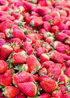 red big strawberries background