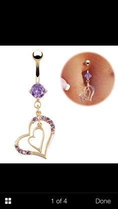 Purple Heart #piercing #cute #bellybutton