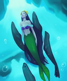 So, I watched a documentary about arctic animals on tv last night and it's perfect timing for today's prompt! Mermaid Man, Siren Mermaid, Mermaid Disney, Fantasy Mermaids, Mermaids And Mermen, Fantasy Creatures, Mythical Creatures, Artistic Visions, Mermaid Pictures