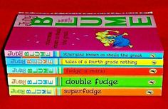 Judy Blume FUDGE Series 5 Books Complete Matching Set Double Sheila Fourth Grade Penguin Books, Chapter Books, Matching Set, Book Title, Guided Reading, Fourth Grade, Book Authors, Great Books, Book Series