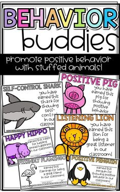 Promote Positive Behavior in the Classroom using Stuffed Animals! Students can earn a stuffed animal for the day and take home a certificate when they exhibit positive behavior in the classroom!