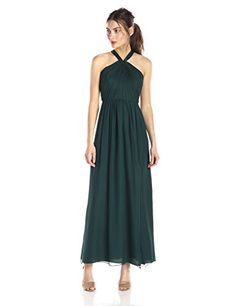 Jill Jill Stuart Womens Open Back Halter Dress Spruce 14 ** Continue to the product at the image link.