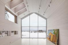 This unassuming family home in Finland is designed by OOPEAA, or Office for Peripheral Architecture. OOPEAA strives for an architecture that finds i. Cabinet D Architecture, Interior Architecture, Interior And Exterior, Interiores Design, Cabana, Finland, New Homes, House Design, Contemporary