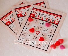 Valentine Bingo-Cards Free Printable | theidearoom.net