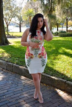 Nadia Aboulhosn, flower dress
