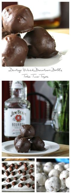 Kentucky Derby means bourbon!  These dark chocolate dipped bourbon balls are perfect for your Derby Party | take two tapas | big flavors - smaller plates