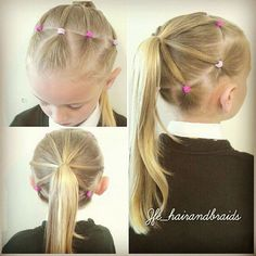 Easy hairstyles for little girls - New Hair Styles ideas Girls Hairdos, Lil Girl Hairstyles, Princess Hairstyles, Pretty Hairstyles, Braided Hairstyles, Simple Hairstyles, Toddler Hairstyles, Formal Hairstyles, Teenage Hairstyles