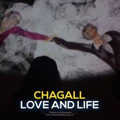 """""""É come se mi conoscesse da sempre, come se sapesse tutto della mia infanzia, del mio presente, del mio avvenire; come se vegliasse su di me, mi capisse perfettamente, sebbene la veda per la prima volta. Sentii che era la mia donna"""".  - Marc Chagall, dedicata alla moglie Bella -"""