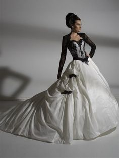 157 Best Black And White Wedding Dresses Images On Pinterest Black