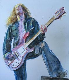 """Paul Dainton on Instagram: """"Cliff 'em all! #sketch #sketchbook #sketching #crayon #metallica"""" Metallica Band, Cliff, Ems, Sketching, Painting, Instagram, Painting Art, Paintings, Sketch"""