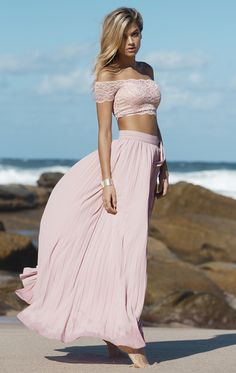 Modern Beach Off the Shoulder Long Pearl Pink Chiffon Homecoming Dress