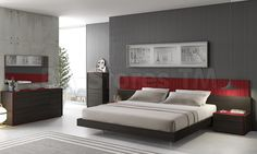 Porto Bedroom Set in Wenge by J&M