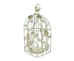 En clave shabby: Jaula decorativa de hierro  - blanco