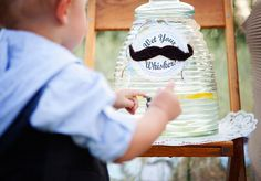 "Vintage ""Little Man"" Mustache Party | CatchMyParty.com"