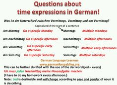 *Time expressions