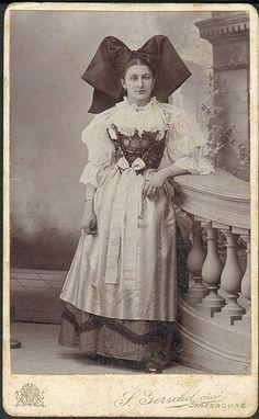 """Anna"" in alsatian folk costume by fleurdecoucou"