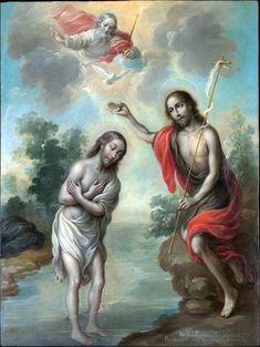 The Baptism of Christ // 1773 // Nicolás Enríquez Photo Printing, Poster Size Prints, Fine Art, Poster Prints, Canvas Prints, Art Reproductions, Metropolitan Museum Of Art, Art, Heritage Image