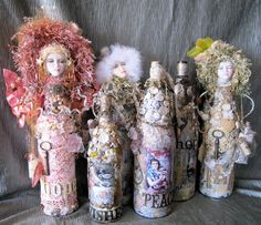 Bottle Dolls - from wine bottles