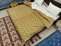 Silk, Designer Suzani Bed And Cushion Cover In Jaipur, Vintage Bag ,Print jacket Silk Bedding, Printed Bags, Print Jacket, Bed Covers, Printing On Fabric, Cushions, Quilts, Vintage, Furniture