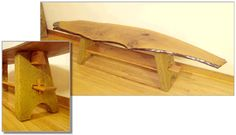 bench made from a vertical cross-section cut of English walnut with formed cement legs. Keystone-inspired connection to legs and Amish-style peg construction for lower shelf and overall stability. Low Shelves, Shelf, English Walnut, Custom Furniture, Amish, Stability, Cement, Connection, Bench