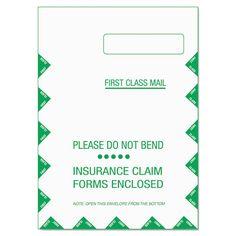 Cms-1500 Claim Form Self-Seal Window Envelope, 9 X 12 1/2, We, 500/carton