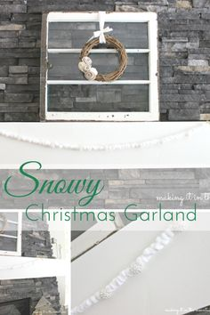This Snowy Christmas Garland is not only pretty, but oh so simple and quick to make too! Don't just take my word for it, see for yourself!!!