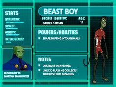 Young Justice Illustrated Character Bios BatmanYoung Justice Season 3 Character Bios