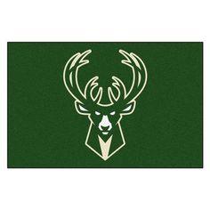 FANMATS NBA - Milwaukee Bucks Doormat Rug Size: 5' x 8'