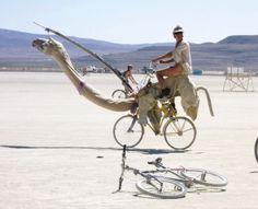 Camel Bike at Burning Man