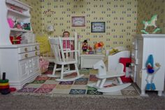 Nursery dresser miniature dollhouse and babies nursery on pinterest